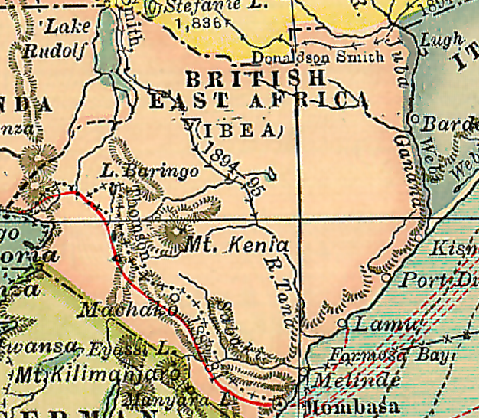 1911 Map British East Africa