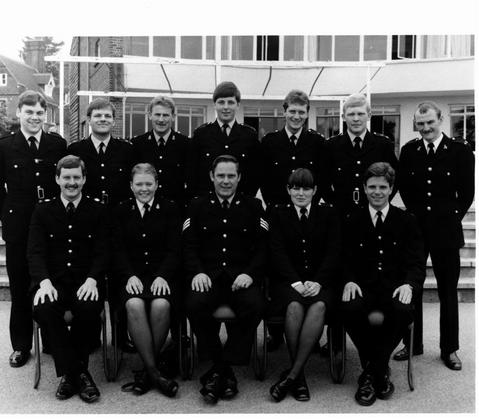 Nik Pringle, standing, far right, became a policeman (UK) like his dad (Kenya)