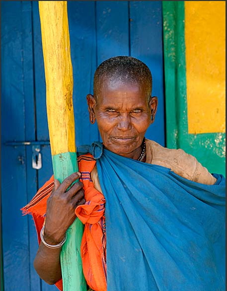 Elderly Samburu woman in South Horr, Kenya